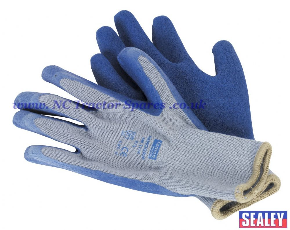 Latex Knitted Wrist Gloves - X-Large